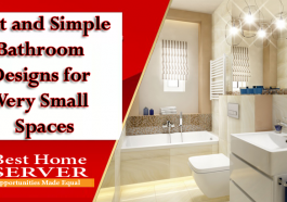 Best and Simple Bathroom Designs for Very Small Spaces