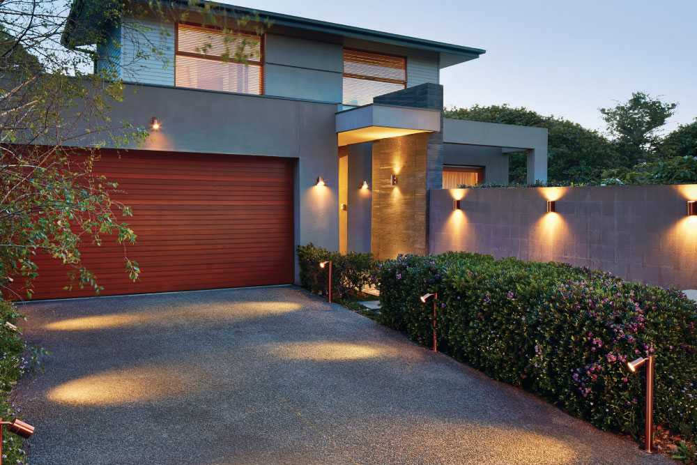 2. Your exterior lighting